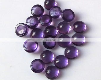 10 pieces 4mm Amethyst round cabochon gemstone - top quality natural Amethyst cabochon round loose gemstone - flat back amethyst cabochon