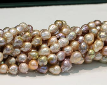 Large pearl,Edison pearl strings,mixed color pearls,pearl necklace,Large Baroque Pearl