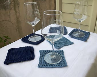 Soft cotton coasters set