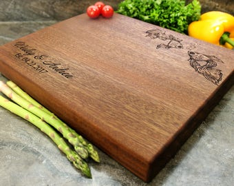 "Personalized Chopping Block 12x15x1.75"" - Engraved Butcher Block, Custom Chopping Block, Housewarming Gift, Wedding Gift #26"