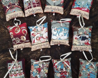 12 Days of Christmas hanging decorations