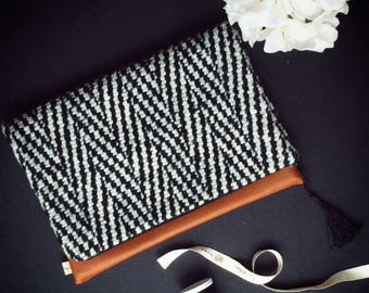 Wool Fold-Over Clutch