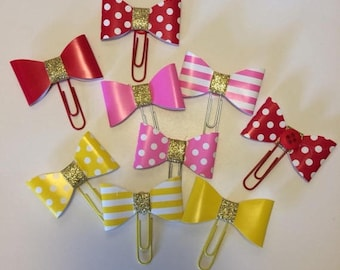 Decorative Paperclip, Planner Clip, Large Paperclip, Bookmark, Bow Paperclip