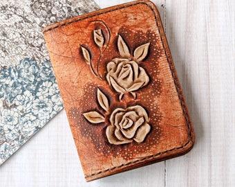 Credit card holder - Slim wallet women - Business card case - Front pocket wallet - Business card holder - Minimalist ladies wallet leather
