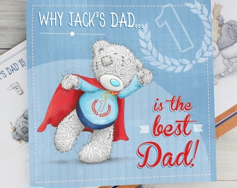 Personalised Me to You For Him Poem Book Gifts Ideas Officially Licensed Tiny Tatty Teddy Mens Fathers Day Dad Daddy Pops Pappa