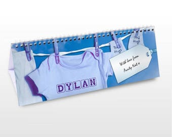 Personalised Baby Boy Desk Calendar Gifts Ideas For New Born Baby Babies Boys Shower Presents
