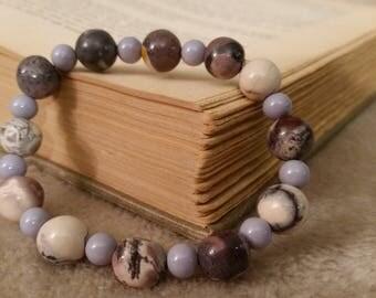Porcelain jasper stretchy bracelet