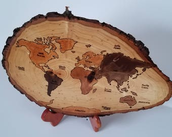 Word Map Pyrography