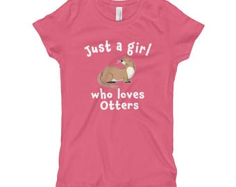 Just a girl who loves otter shirt - Love otters - Cute otter shirt - Womens otter shirt - Girls otter shirt - Funny otter shirt - Kids otter