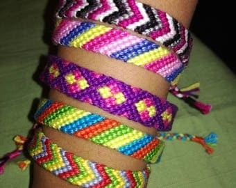 Friendship bracelet, Braided bracelet, Handwoven bracelet, Knotted bracelet, Bracelet bresilien,Wrist band,String bracelet, Bohemian style