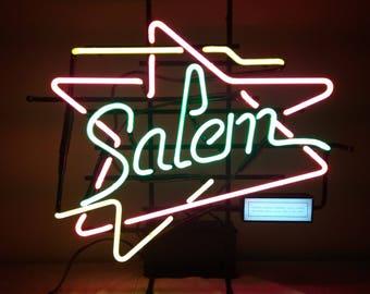 Vintage Salem Cigarette Neon Sign