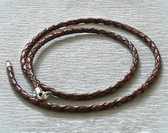 Leather braided lace