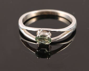 Handmade Natural Green Sapphire Jewelry, Green Sapphire, 925 Sterling Silver, Sapphire Ring, Free Shipping, Gift For Her, Gift For Wife,