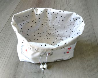 Pouch, bag, basket convertible 2 in 1