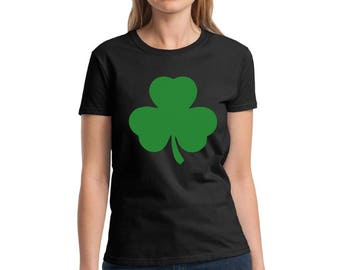 Shamrock Shirts for Women Shamrock Green T-Shirt Lucky Shirts for St. Patrick's Day Irish Gifts for Her Irish Clover Shirt St. Paddy's Day