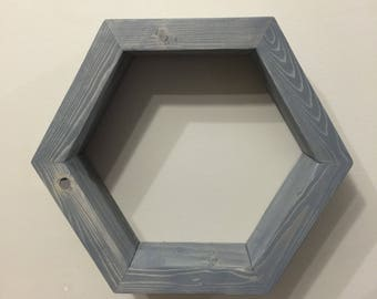 Thick Hexagon Shelf / Honeycomb Shelves / Rustic Farmhouse Shelving / Geometric / Essential Oil / Nursery Decor / Wall Art / Wall Hanger