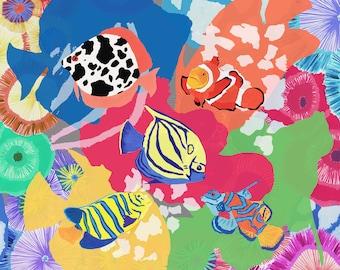 Colourful Fish Scarf