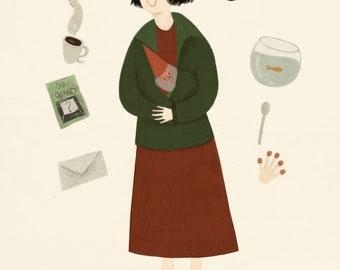 Amelie Poulain // A4 Art Print