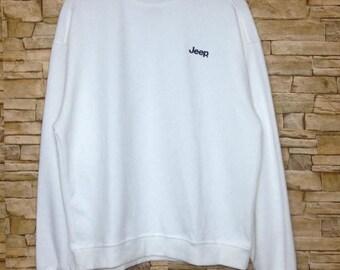 OFF 20% SALE Vintage JEEP outdoor sweatshirt crewneck 90s casual