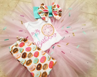 Donut Birthday Tutu 4 piece set