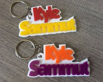 Personalized Keychain Name and Second Name Keychain School Bag Tag (Buy 4 Get 1 FREE)