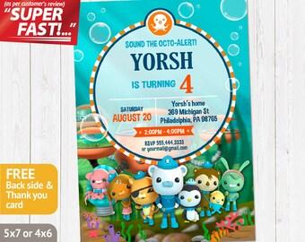 Octonauts Invitation PRINTABLE, Octonauts Birthday Invitation, Invite, Octonauts Party Invitation, FREE Octonauts Thank You Card, v1