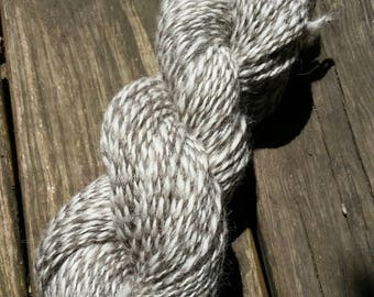 2 Ply Handspun 166 yards wool worsted yarn