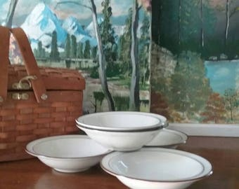Summer Sale Elegance I I Bavarian Brown collection set of 5 small bowls Stoneware from the 80s