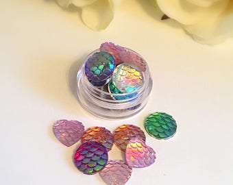 Mermaid iridescent face and body gems