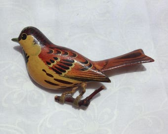 WWII Painted Bird Pin