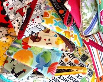 Zipper pouch, coin purse, bulk orders, party gift, zipper purse, mini wallet,  Mini storage, small items pouch, sweetpea pods, CUSTOM OPTION