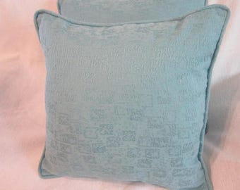 Blue Windows in the Sky 16x16 in. Pillows with Self Cording