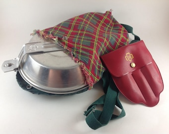 Vintage Girl Scout Mess Kit with Utensils and Carrier Bag