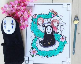 spirited away - No Face (Kaonashi) -  print