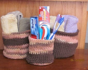 Crochet Basket Set
