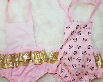Chic Vintage Minnie Mouse Inspired Romper