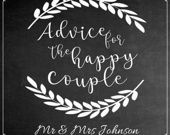Personalised Chalk Board Effect Wedding Guest Book Sign