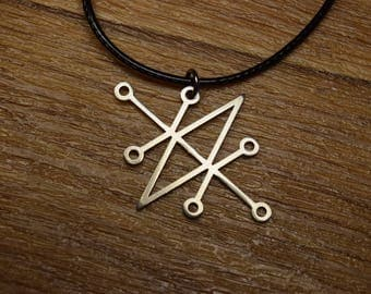 Sceal Sigil of Azazel sigil of demons Necklace Satan Necklace Lesser Key demon seal pendant  Goetia necklace Lemegeton jewelry Seal Lucifer