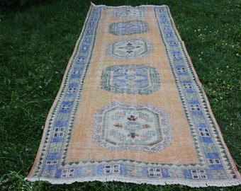 Free Shipping oushak rug vintage turkey floor rug 4.3 x 11.8 feet area rug anatolian organic wool rug home decor tribal rug Code296