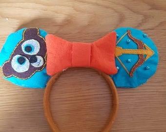 Custom Handmade Mickey Mouse Ears - Brave - Disney Headband