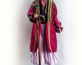 Art doll OOAK Pirate home decoration doll Collectible clay original doll Realistic beautiful unique doll housewarming gift