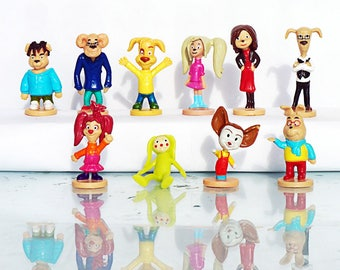 10 psc Barboskins Mini Figures toys party favor birthday cupcake toppers cartoon series holiday miniature surprise baby Figurine