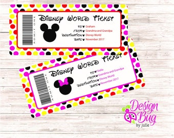 Disney Admit One Ticket