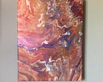 "fluid acrylic art made with a varity of colours. ""Chaos"""