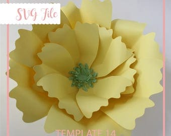 Paper Flower Template, SVG Cut File, Flower Template, Giant Paper Flower Template, DIY Paper Flower, Flower Backdrop, Paper Flower Pattern