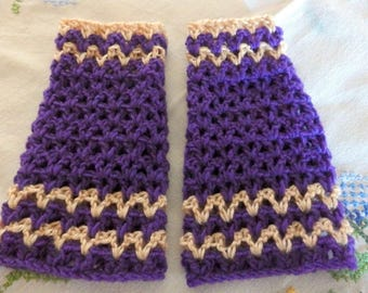 Teen mittens two colors purple and rosewood