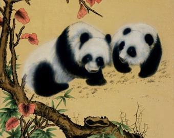 Panda Pair Cross Stitch Pattern***LOOK***