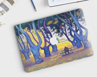 "Paul Signac, ""Place des Lices"". Macbook Pro 15 decal, Macbook Pro 13 decal, Macbook 12 decal. Macbook Pro decal. Macbook Air decal."