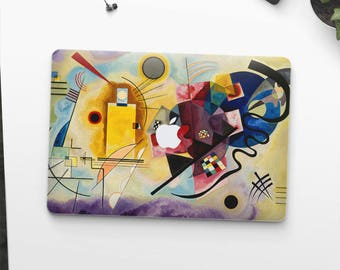 "Vasily Kandinsky, ""Yellow-Red-Blue"". Macbook Pro 15 skin, Macbook Pro 13 skin, Macbook 12 skin. Macbook Pro skin. Macbook Air skin."