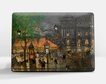 "Laptop skin (Custom size). Konstantin Korovin, ""Place de l'Opera, Paris"".  Laptop cover, HP, Lenovo, Dell, Sony, Asus, Samsung etc."